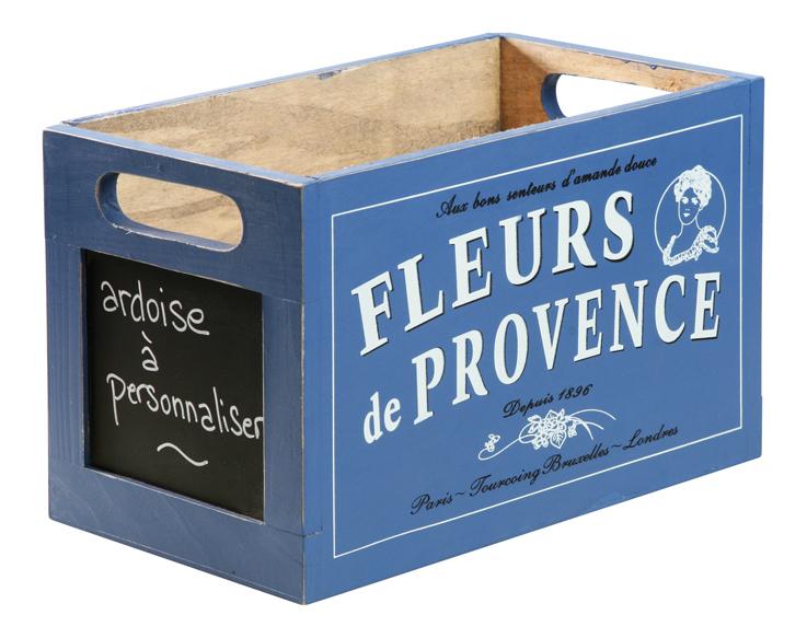 Caisse Ardoise Bois Fleur De Provence Contenants Du Sud
